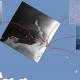 Auf diesem Bild kann man Aufnahmen von Eismeeren sehen, welche jeweils einer Position auf einer Karte zugeordnet sind.