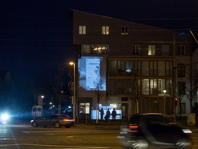 Projektionen in der Stadt