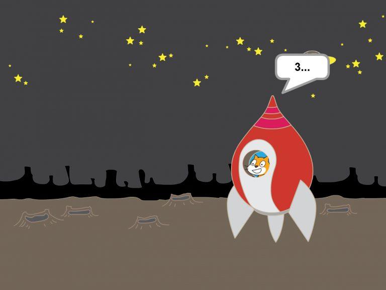 3-2-1-0: Lift up! - Programmiere deine Animation eines Raketenstarts